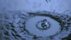 Dripping in super slow motion Stock Footage