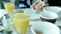 Hotel Breakfast - stock footage