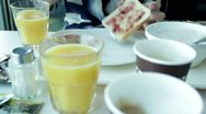 Stock Video Footage of Hotel Breakfast