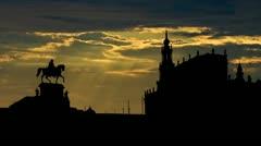 Germany Dresden sunbeams Stock Footage
