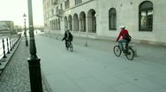 Stock Video Footage of People cycling in Gamla Stan