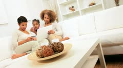 African American Generations Online Shopping Together Stock Footage
