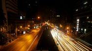 Traffic Jam at night in Bangkok, Timelapse Stock Footage