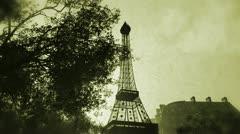 Sunset in Paris 08 vintage Stock Footage