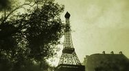 Stock Video Footage of Sunset in Paris 08 vintage