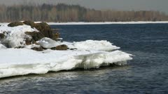 Icy water 008 Stock Footage