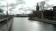 Stockholm Town Hall landscape Stock Footage