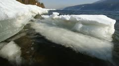 Icy water 014 Stock Footage