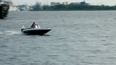 speed boat - stock footage