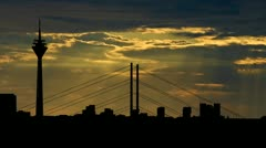Germany Dusseldorf sunbeams Stock Footage
