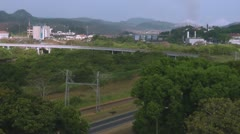 Ship Leaving Miraflores Locks Time Lapse RF - stock footage