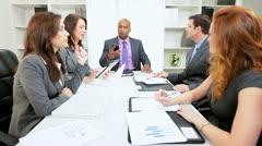 Multi Ethnic Business Team Surprise Good News Stock Footage