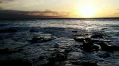 Maui Sunset Hawaii Stock Footage
