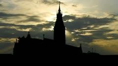 Germany Hamburg Rathaus sunset Stock Footage