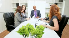 Young Multi Ethnic Business Team Meeting Stock Footage
