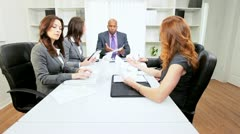 Multi Ethnic Business Team After Disappointing News Stock Footage