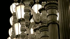 LACMA Light Sculpture 2 Stock Footage