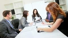 Caucasian Business Female Leader Successful Team - stock footage