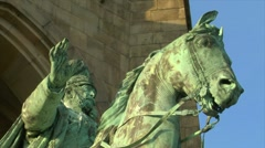 10671 emperor wilhelm monument germany close Stock Footage