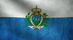San Marino flag. Stock Footage