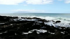 Pan shot from Maui Shore - stock footage