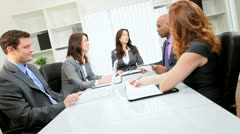 Multi Ethnic Business Team Brainstorming Meeting Stock Footage