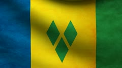 Saint Vicent and the grenadines flag. Stock Footage
