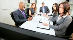 City Business Team Wireless Technology Video Conference Stock Footage