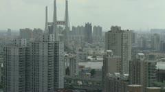 shanghai bridge - stock footage