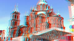 Stereoscopic 3D Helsinki 17 - Uspenski Cathedral Stock Footage