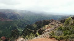 Waimea Canyon Kauai Island Hawaii Stock Footage
