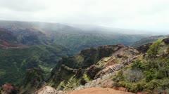 Waimea Canyon Kauai Island Hawaii - stock footage
