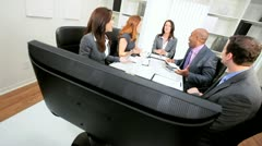 Video Conference Meeting Ambitious Business Team Stock Footage