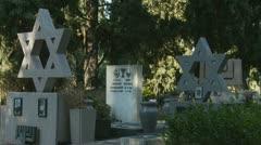 Jewish cemetery (four) Stock Footage