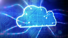 Cloud Computing Ciruit Board Stock Footage