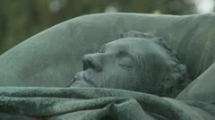 Death bed (one) in cemetery Stock Footage