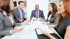 Ethnic Business Team Leader Team Building Meeting - stock footage