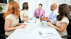 African American Consultant   Congratulating Advertising Team Colleagues - stock footage