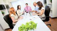 Advertising Agency Team Modern Wireless Communications Stock Footage