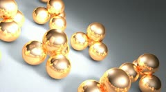 Metal ball Stock Footage