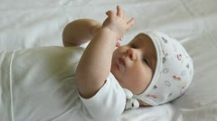 Little baby counting his fingers Stock Footage