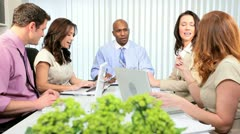 Multi Ethnic Team Modern Advertising Agency  Stock Footage