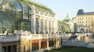 Stock Video Footage of Palmenhaus stands in Hofburg Palace park
