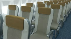 Airplane cabin Stock Footage