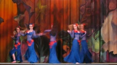 Participants on Bellydance Superiority of Moscow 2012 appear on scene - stock footage