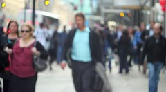 Very Crowded Side walk in NYC Stock Footage