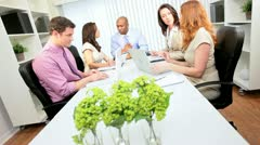 Team Meeting Multi Ethnic Advertising Agency Executives Stock Footage