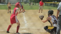 Stock Video Footage of Stock Footage - Batter - Catcher and Umpire - Med Close