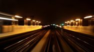 Stock Video Footage of POV of Subway Car Time lapse