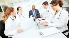 Hospital Boardroom Consultants Meeting - stock footage